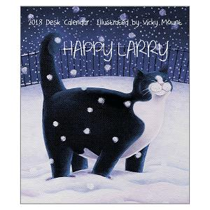The Vicky Mount 2018 'Happy Larry' Desk Calendar