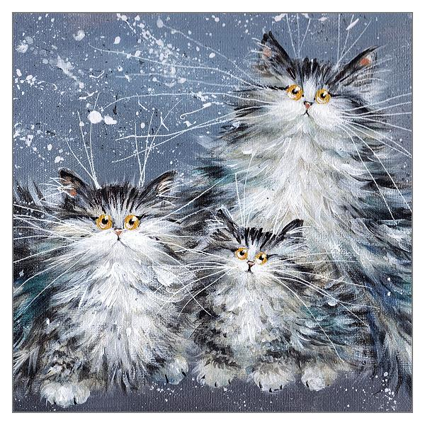 Fluffy Tabby Family - Click Image to Close